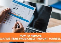 remove negative items from credit report yourself